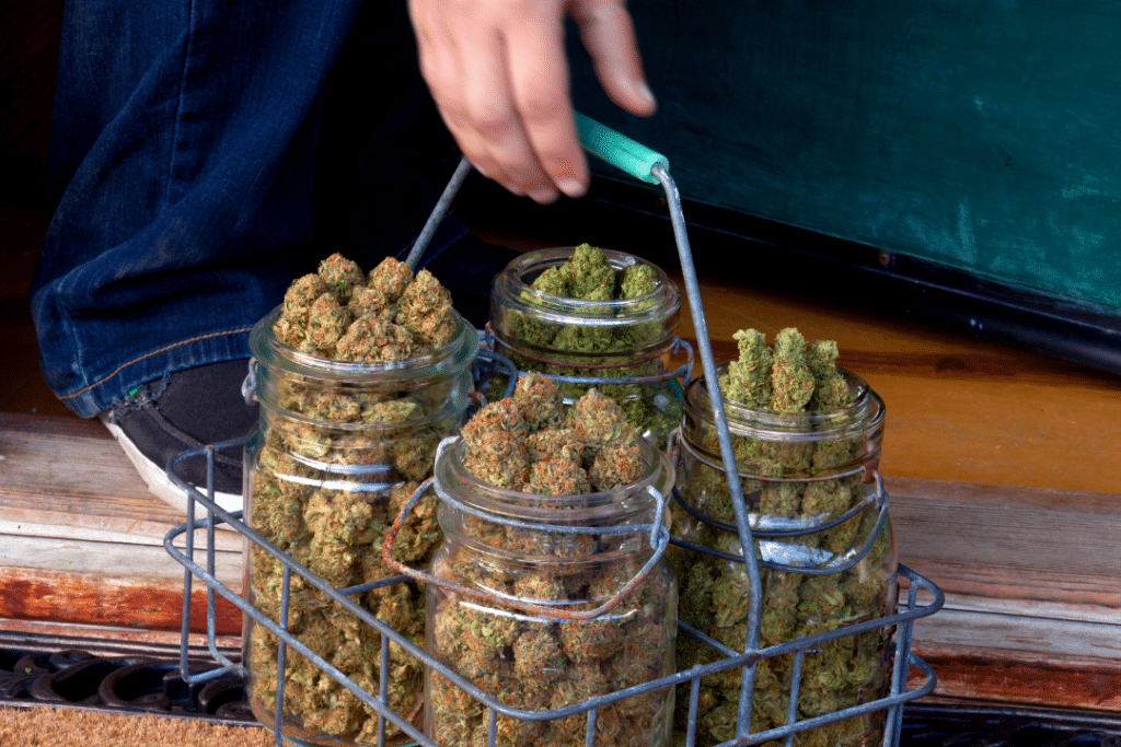 Cannabis being delivered for a virtual sesh.