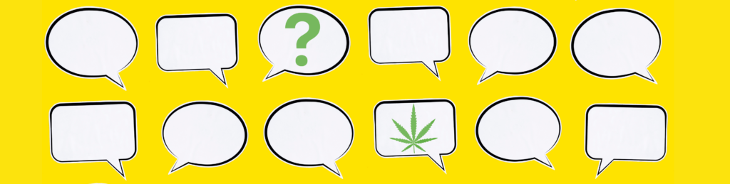 Cannabis Quote Game Graphic with Yellow Background
