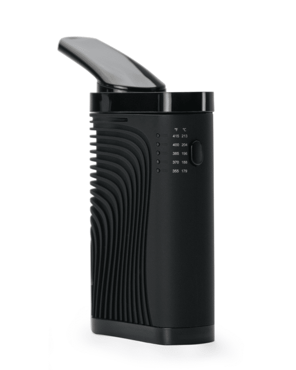 CF Vaporizer Standing up with Extended Mouthpiece and a White Background